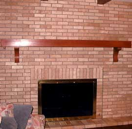 repainted fireplace brick